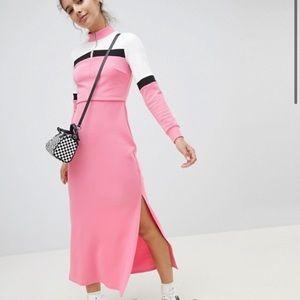💕 ASOS Color Block Maxi Track Dress 💕